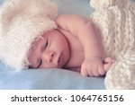 little newborn baby | Shutterstock . vector #1064765156