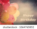 many colorful baloons in the... | Shutterstock . vector #1064765852