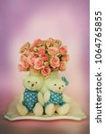 valentines day. two toy bears | Shutterstock . vector #1064765855