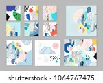 collection of creative... | Shutterstock .eps vector #1064767475