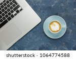 cup of coffee in close up view...   Shutterstock . vector #1064774588