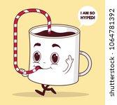 coffee cup character vector... | Shutterstock .eps vector #1064781392