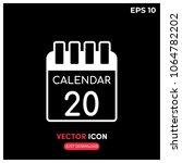flat calendar vector icon...