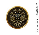 the geometric logo of a lion in ... | Shutterstock .eps vector #1064782625