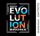 evolution typographic t shirt...   Shutterstock .eps vector #1064790752