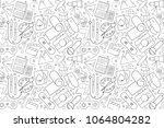 vector hobby pattern. hobby... | Shutterstock .eps vector #1064804282