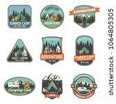 set of summer camp badges.... | Shutterstock .eps vector #1064805305