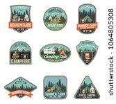 set of summer camp badges....   Shutterstock .eps vector #1064805308