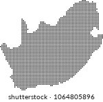 south africa map dots vector... | Shutterstock .eps vector #1064805896
