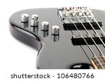 Electric Bass Guitar Isolated...