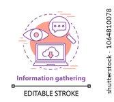 information gathering concept... | Shutterstock .eps vector #1064810078