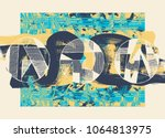 hand drawn abstract background... | Shutterstock .eps vector #1064813975