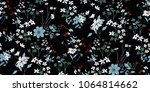 seamless floral pattern in... | Shutterstock .eps vector #1064814662
