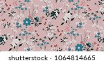 seamless floral pattern in... | Shutterstock .eps vector #1064814665