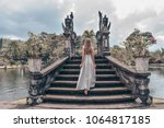 series traveling girl in asia.... | Shutterstock . vector #1064817185