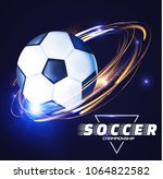soccer ball with light effects. ... | Shutterstock .eps vector #1064822582