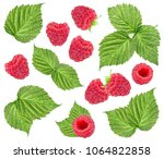 Raspberry And Leaves Isolated...
