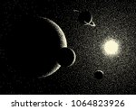 space landscape with scenic...   Shutterstock .eps vector #1064823926