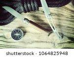 travel accessories background   Shutterstock . vector #1064825948