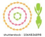 set of round vintage floral...   Shutterstock .eps vector #1064836898