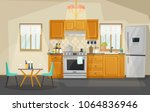 kitchen interior view  room... | Shutterstock .eps vector #1064836946