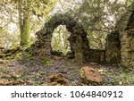 ruins of an old chapel in the... | Shutterstock . vector #1064840912