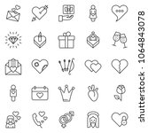 thin line icon set   jesus... | Shutterstock .eps vector #1064843078