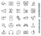 thin line icon set  ... | Shutterstock .eps vector #1064845085