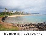 ala moana  hawaii   february 25 ... | Shutterstock . vector #1064847446