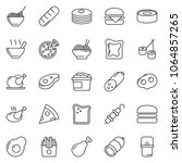 thin line icon set   sausage... | Shutterstock .eps vector #1064857265