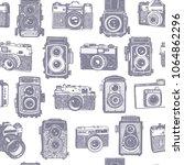 vector seamless grey violet... | Shutterstock .eps vector #1064862296