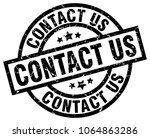 contact us round grunge black... | Shutterstock .eps vector #1064863286