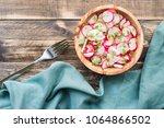 fresh radish salad | Shutterstock . vector #1064866502