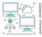 electronic data interchange...   Shutterstock .eps vector #1064869052