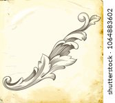 retro baroque decorations... | Shutterstock .eps vector #1064883602