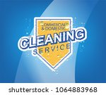 cleaning service vector... | Shutterstock .eps vector #1064883968