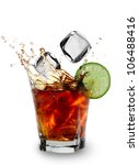 cuba libre drink over white | Shutterstock . vector #106488416