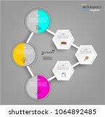 modern business infographic... | Shutterstock .eps vector #1064892485