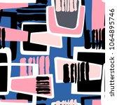 seamless urban funky geometric ... | Shutterstock .eps vector #1064895746