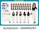 pretty female office employee... | Shutterstock .eps vector #1064896295