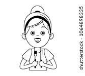 beautiful little girl holding...   Shutterstock .eps vector #1064898335