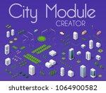 city module creator isometric... | Shutterstock .eps vector #1064900582