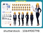 woman architect in business... | Shutterstock .eps vector #1064900798