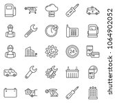 thin line icon set   home... | Shutterstock .eps vector #1064902052
