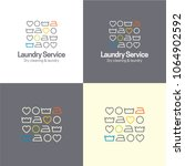 laundry service icon and logo.... | Shutterstock .eps vector #1064902592