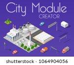 city module creator isometric... | Shutterstock .eps vector #1064904056
