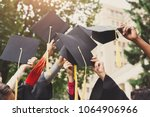 a group of multietnic students... | Shutterstock . vector #1064906966
