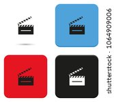 clapperboard flat vector icon. | Shutterstock .eps vector #1064909006