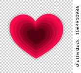 paper art hearts of concept... | Shutterstock .eps vector #1064910986