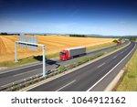 truck transportation on the...   Shutterstock . vector #1064912162